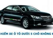 Bảo hiểm xe ô tô dưới 05 chỗ không kinh doanh vận tải
