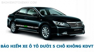 Bảo hiểm xe ô tô 4 và 5 chỗ không kinh doanh vận tải | Chiết khấu 30